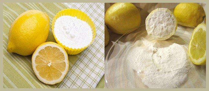 Лимон, соль и сода
