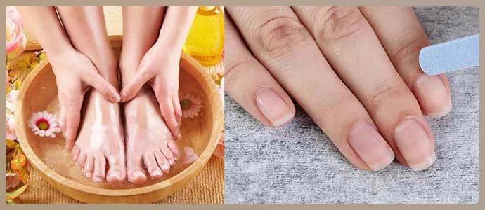 Дезинфицирующие ванночки и обработка ногтей пилочкой