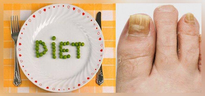 Диета при грибке ногтей