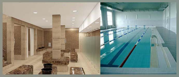 Посещение общественных бань, бассейнов