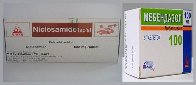 Никлозамид, Мебендазол